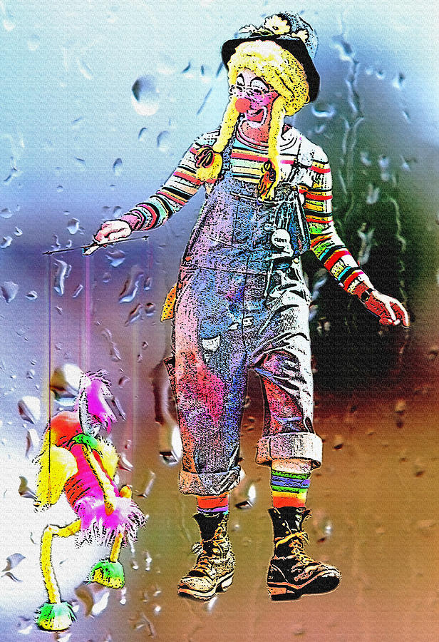 Rainy Day Clown 3 Photograph  - Rainy Day Clown 3 Fine Art Print