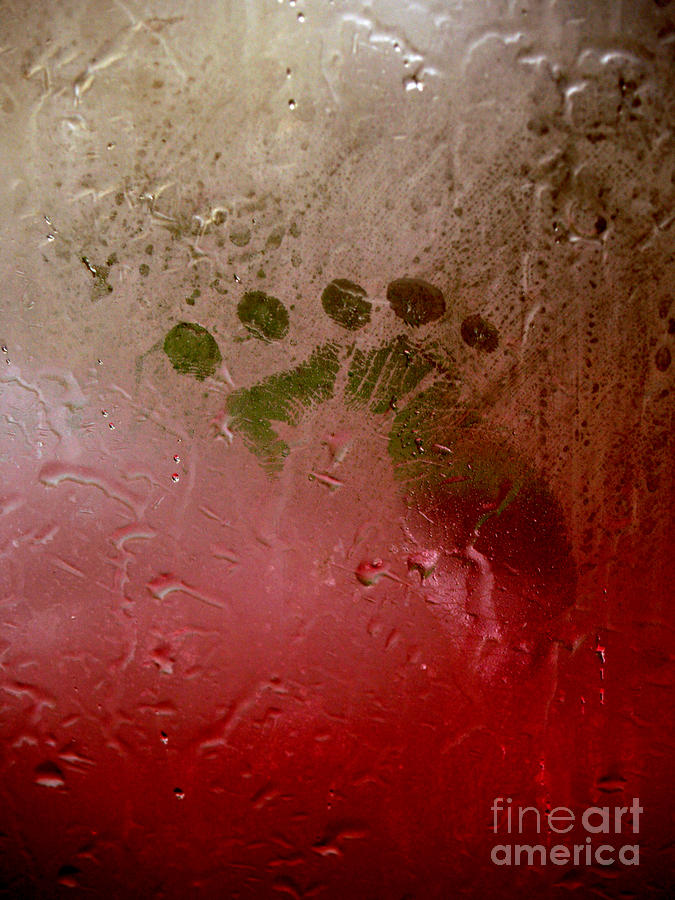 Rainy Day Hand Fist Footprint Photograph