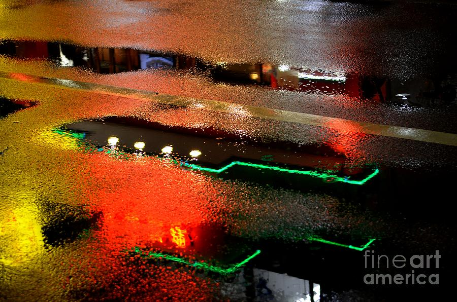 Rainy Night In Chinatown Photograph  - Rainy Night In Chinatown Fine Art Print