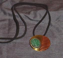 Raku And Metal Pendant Jewelry
