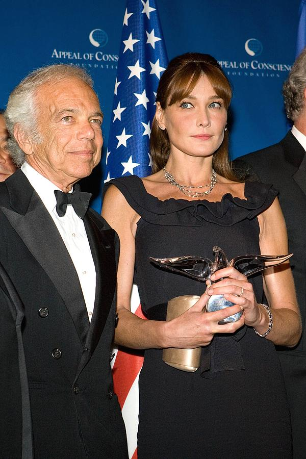 Appeal Of Conscience Foundation''s 2008 World Statesman Award Ceremony Photograph - Ralph Lauren, Carla Bruni-sarkozy by Everett