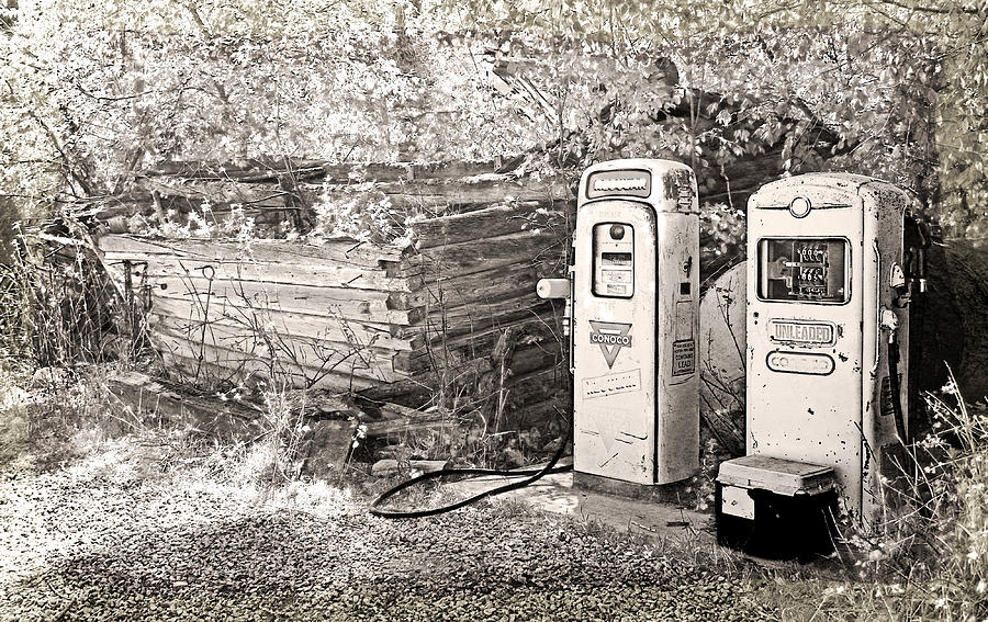 Expressive Photograph - Ranch Gas Pumps by Lenore Senior and Dawn Senior-Trask
