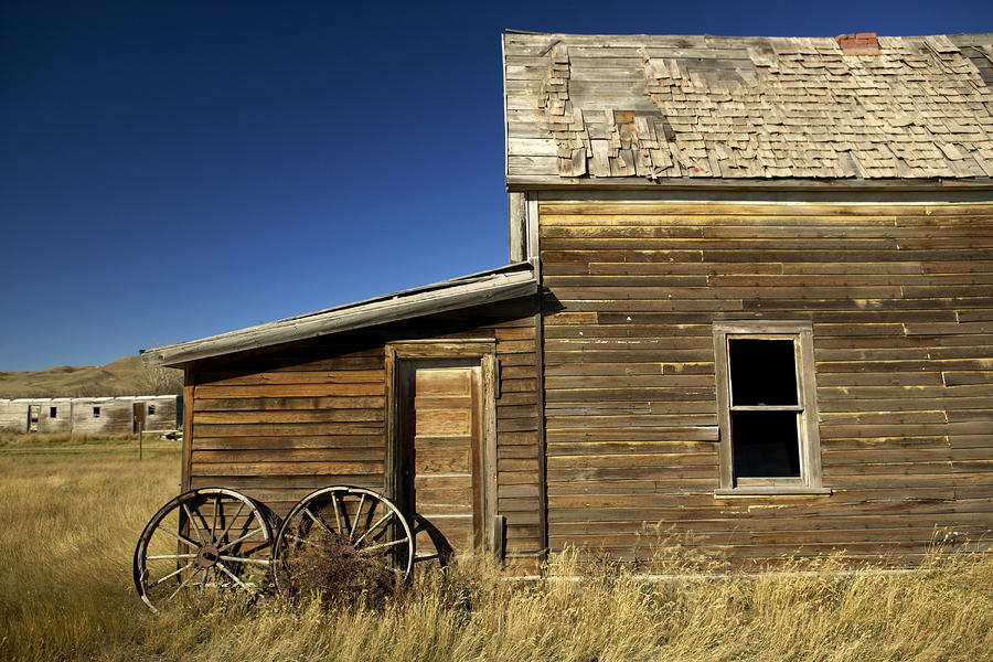 Ranchers House In Prairie Semi-ghost Photograph  - Ranchers House In Prairie Semi-ghost Fine Art Print