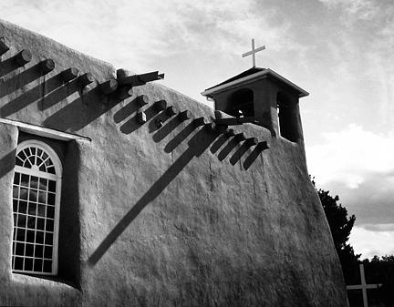 Rancho De Taos Shadows Photograph
