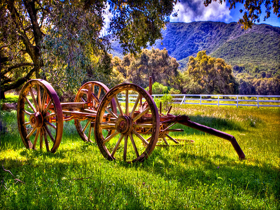 Rancho Oso Wagon Photograph  - Rancho Oso Wagon Fine Art Print