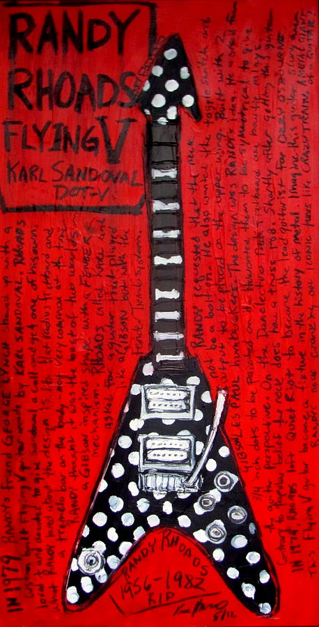 Randy Rhoads Flying V Painting