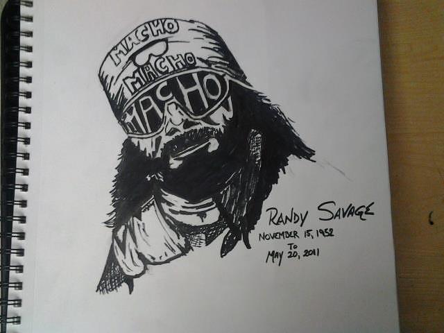 Macho Man Drawing - Randy Savage by Mark Norman II