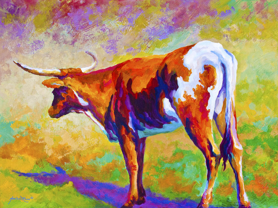 Range Rover II - Texas Longhorn Painting