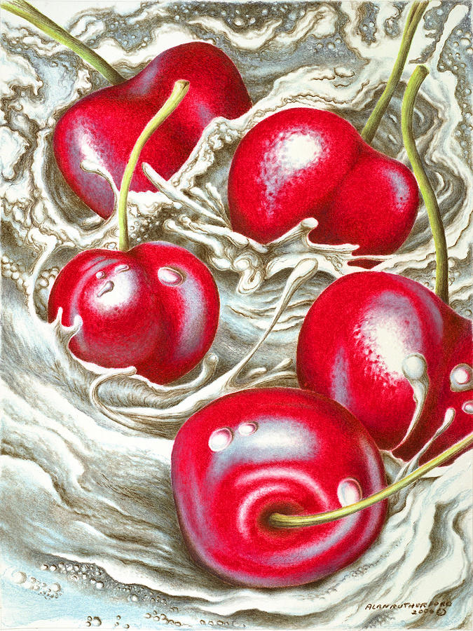 Rapid Cherries Painting  - Rapid Cherries Fine Art Print