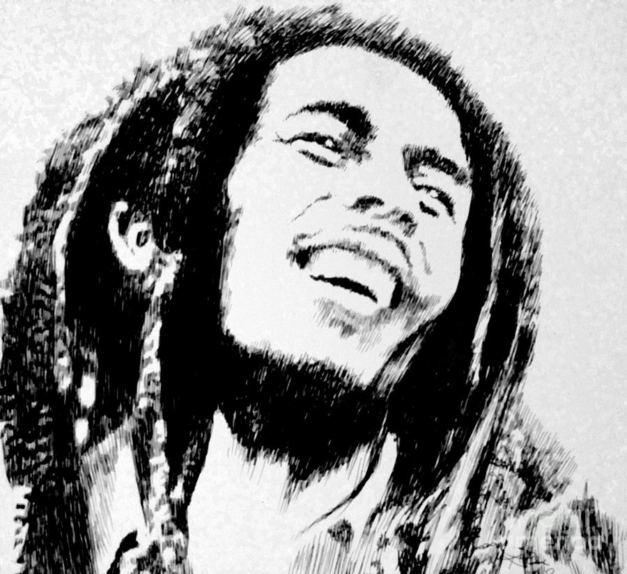 Rasta Man Drawing  - Rasta Man Fine Art Print