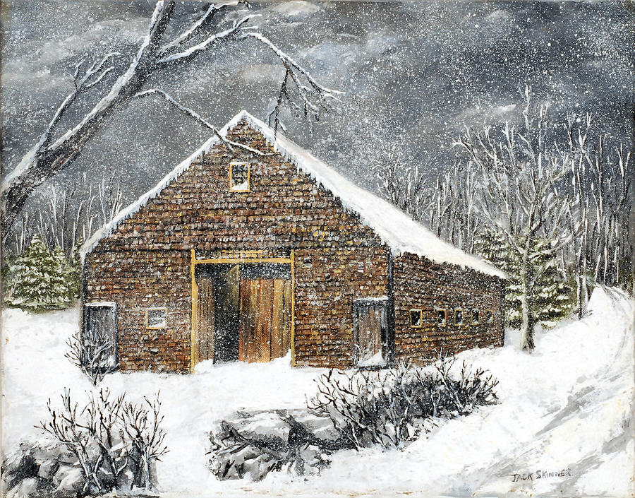 Ray Emersons Old Barn Painting