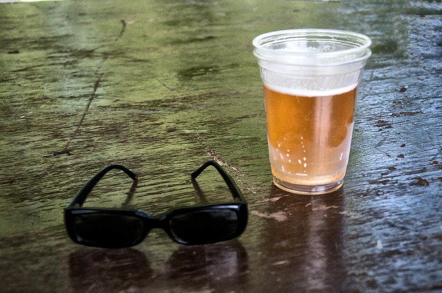 Raybans And A Beer Photograph