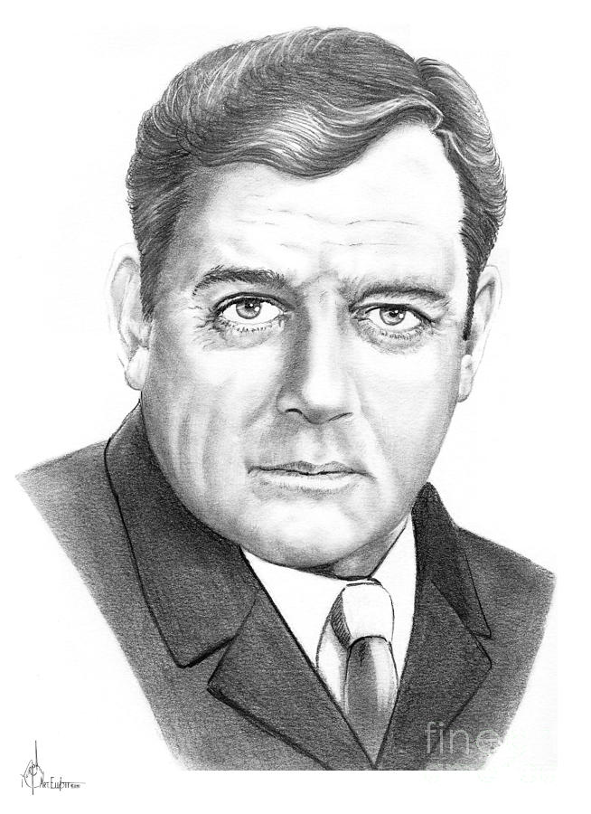 Raymond Burr Drawing  - Raymond Burr Fine Art Print