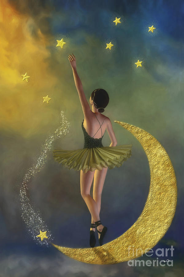 Reaching For The Stars - Ballerina Painting  - Reaching For The Stars - Ballerina Fine Art Print