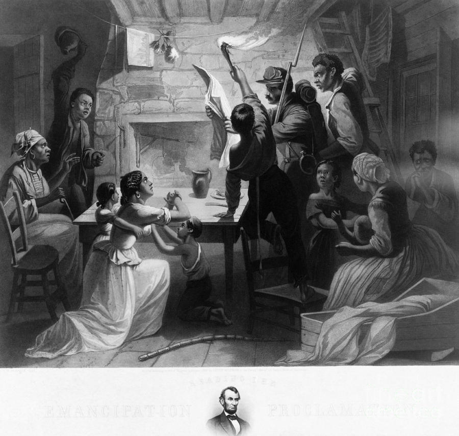 Reading Emancipation Proclamation Photograph