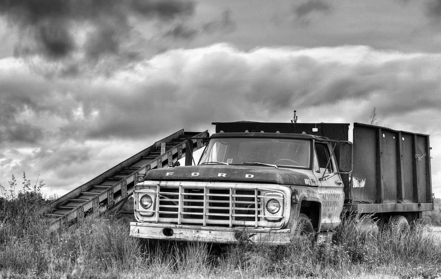 Ready For The Harvest Bw Photograph