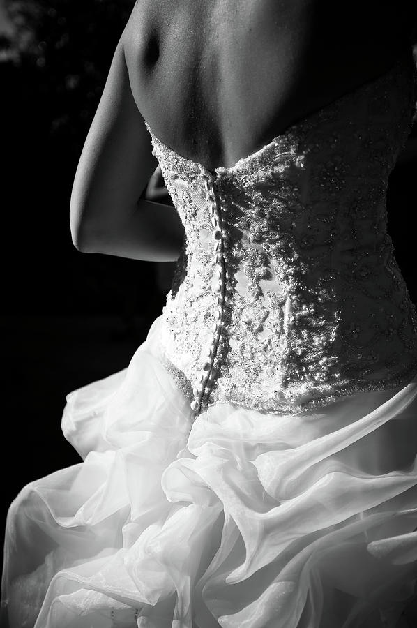 Rear View Of Bride Photograph  - Rear View Of Bride Fine Art Print