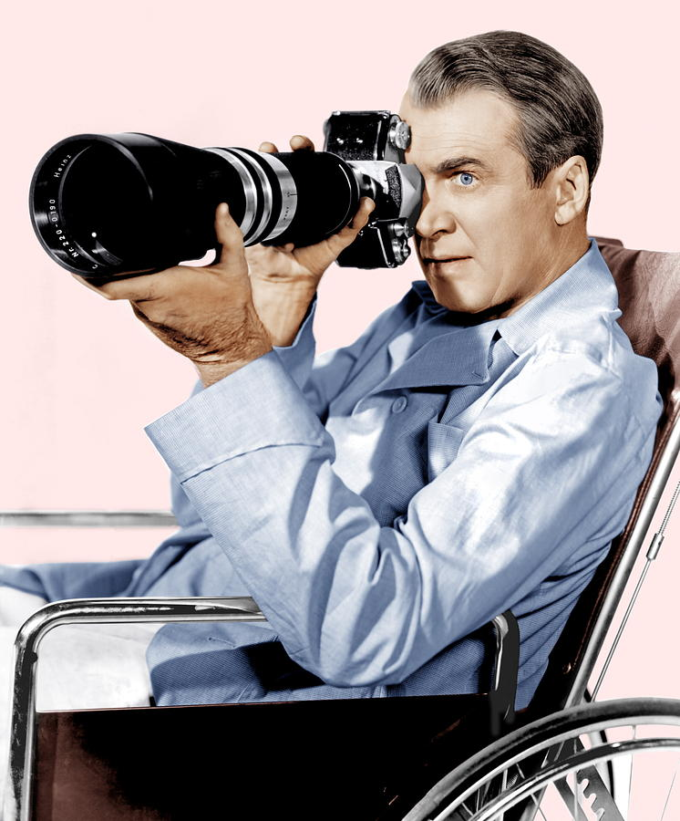 Rear Window, James Stewart, 1954 Photograph