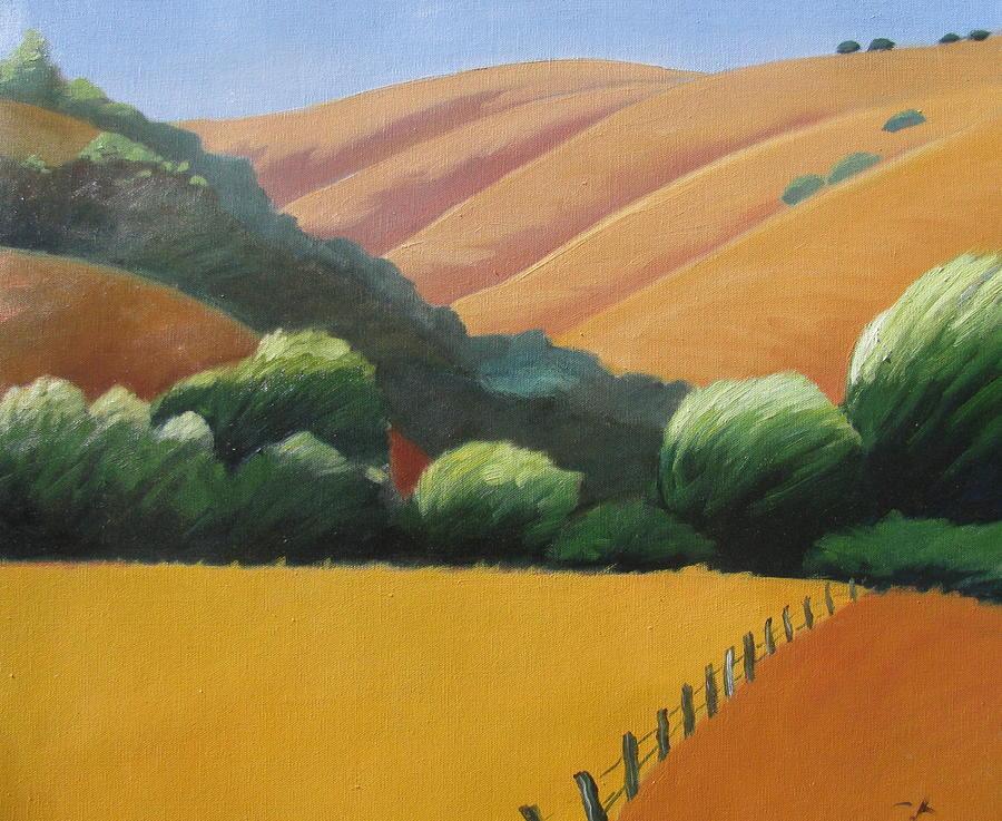 Receeding Hills Painting