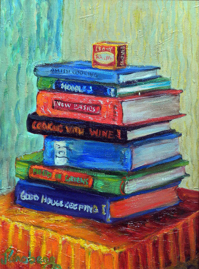 Recipe Books Painting By Jean Groberg