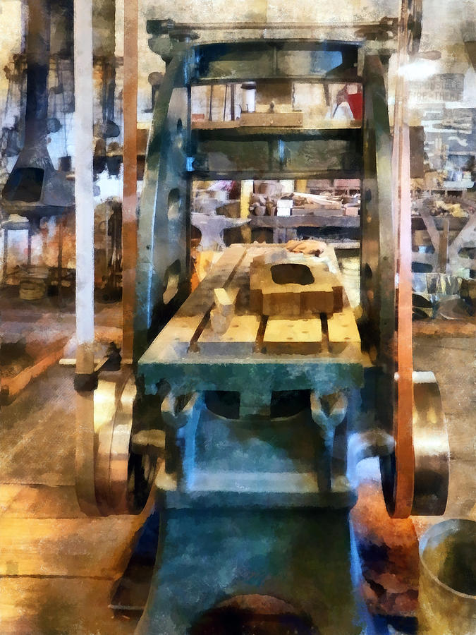 Machinist Photograph - Reciprocating Flatbed Planer by Susan Savad