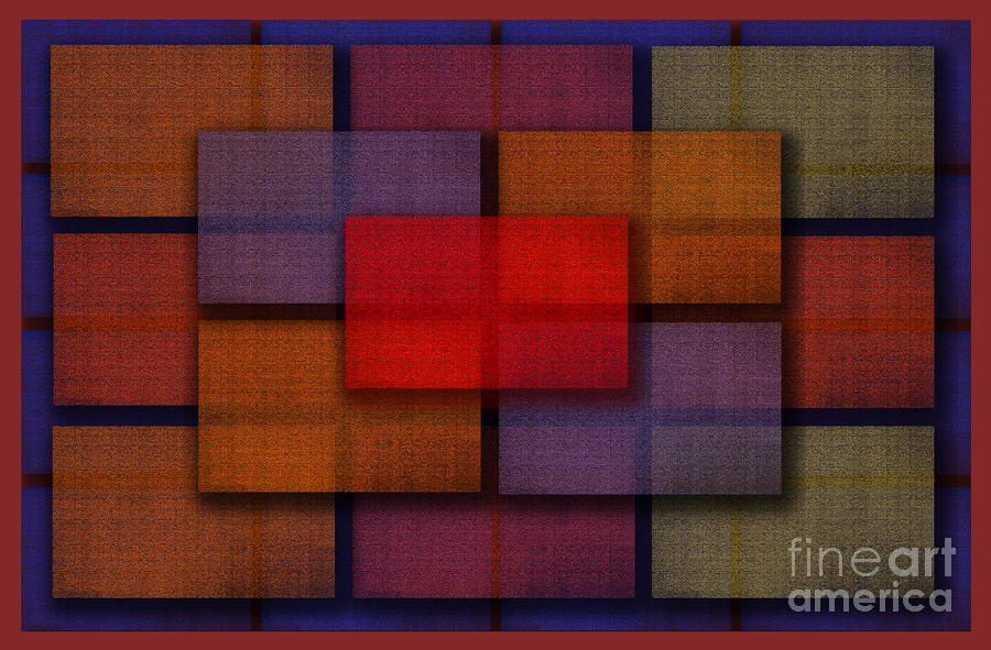 Rectangles Digital Art  - Rectangles Fine Art Print