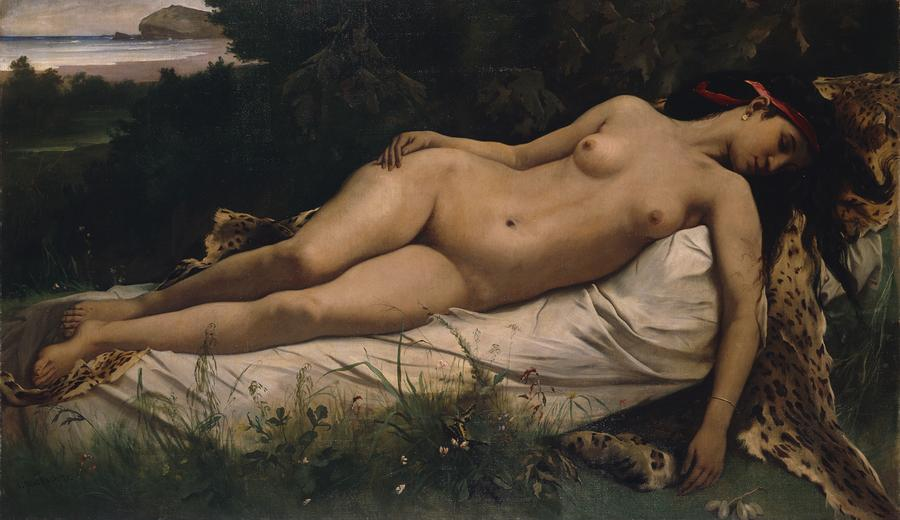 Recumbent Nymph Painting