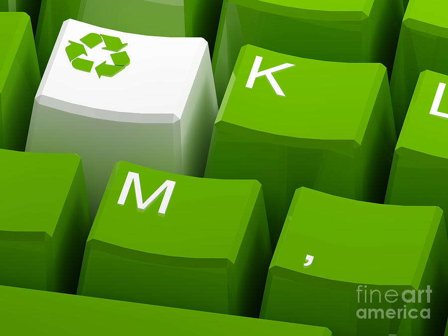 Recycle Symbol  Photograph  - Recycle Symbol  Fine Art Print