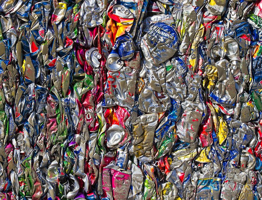 Aluminum Photograph - Recycled Aluminum Cans by David Buffington