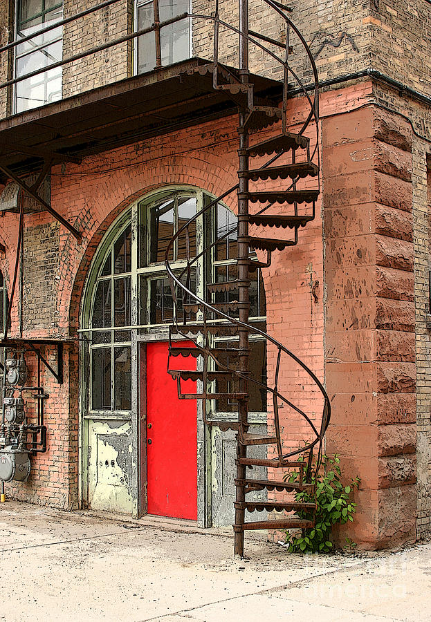 Red Alley Door Photograph  - Red Alley Door Fine Art Print