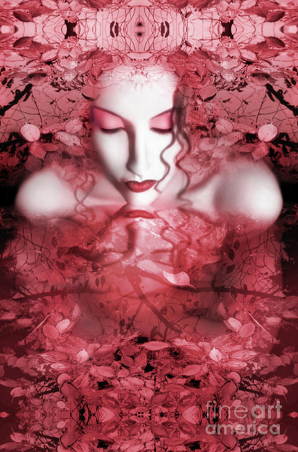Red Autumn - Self Portrait Photograph  - Red Autumn - Self Portrait Fine Art Print