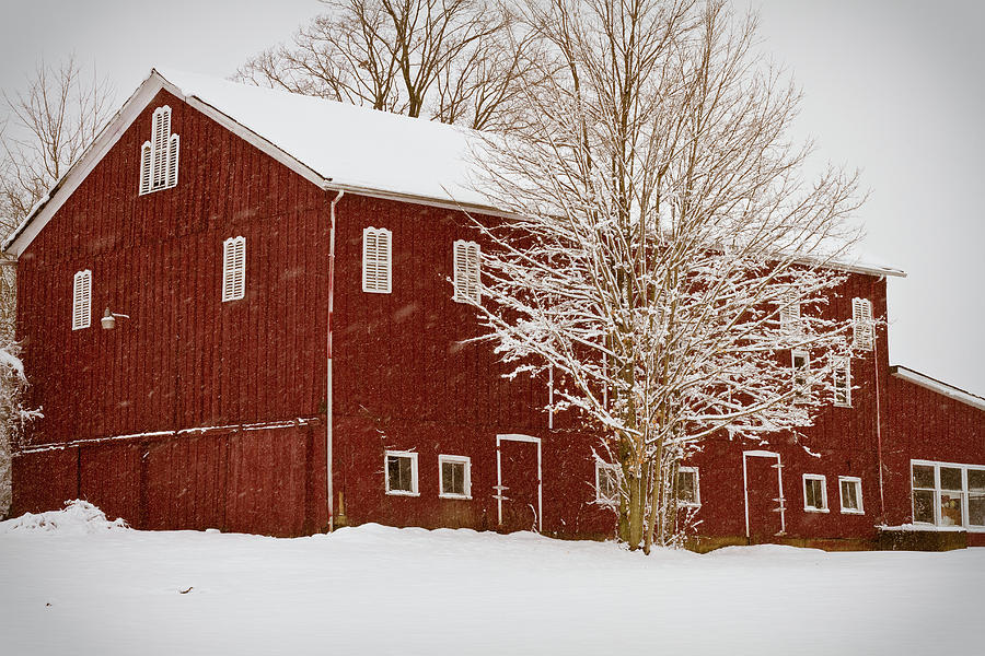 Red Barn IIi Photograph  - Red Barn IIi Fine Art Print