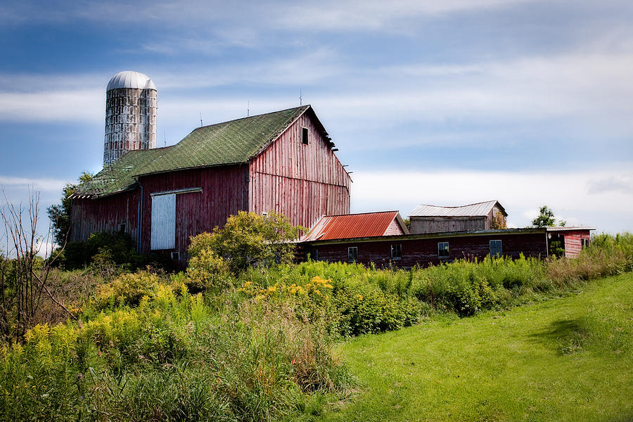Red Barn In Groton Photograph  - Red Barn In Groton Fine Art Print