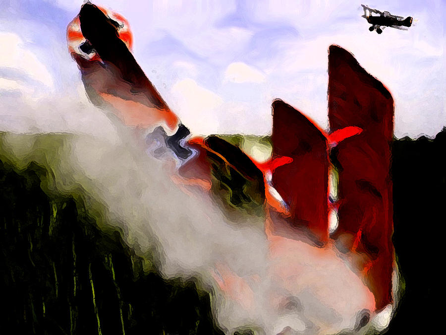 Red Baron Down Digital Art