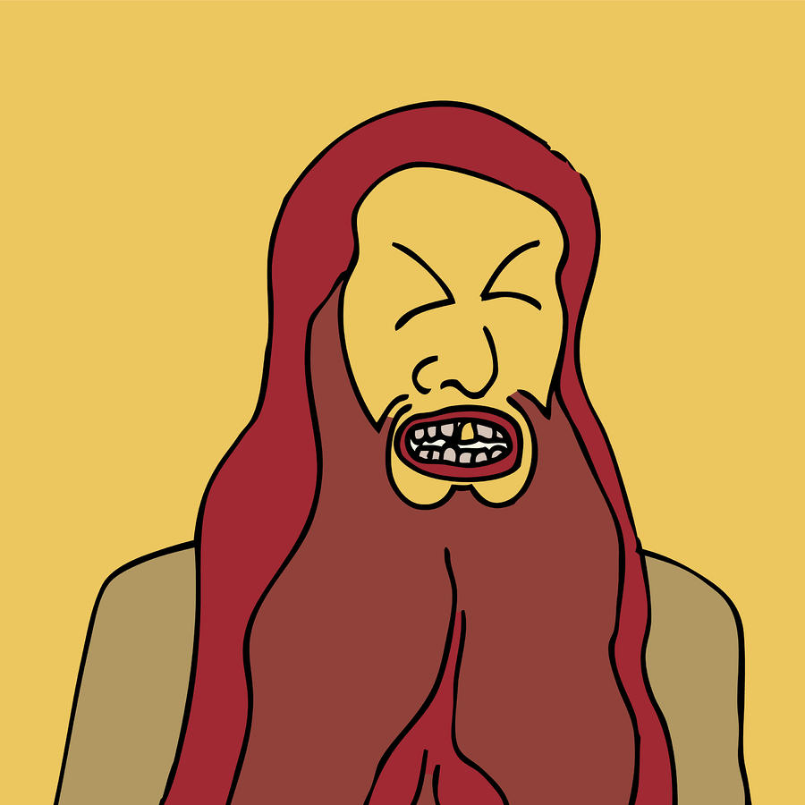 Red Bearded Man Drawing  - Red Bearded Man Fine Art Print
