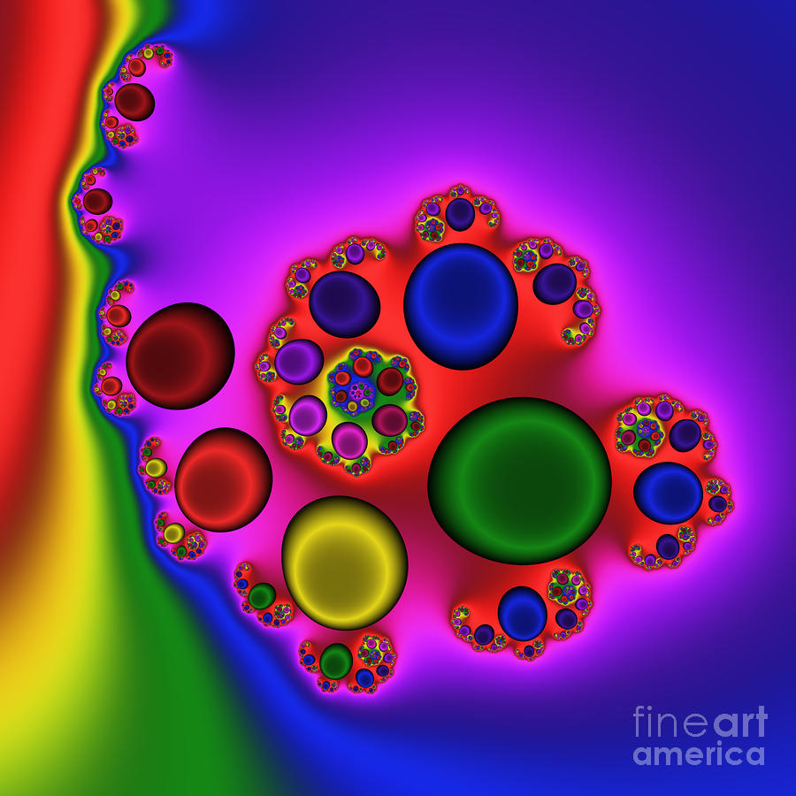 Red Blood Cells 215 Digital Art  - Red Blood Cells 215 Fine Art Print