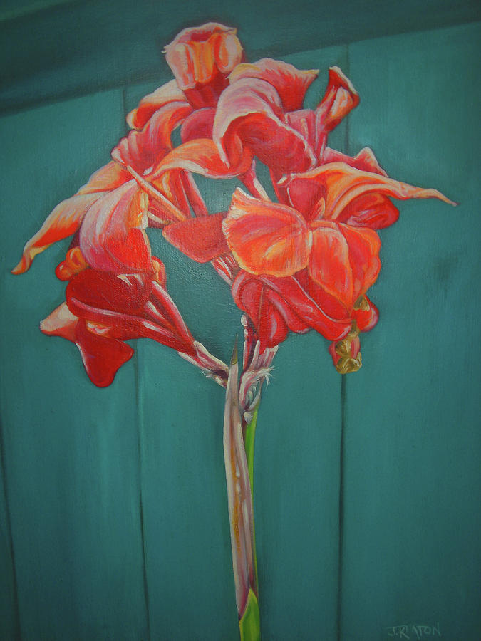 Red Bloom Painting  - Red Bloom Fine Art Print