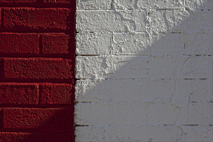 Red Brick White Brick Photograph  - Red Brick White Brick Fine Art Print