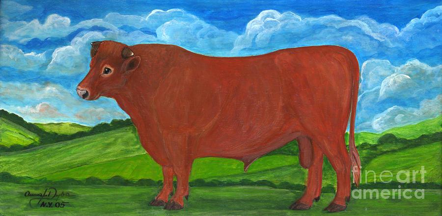Red Bull Painting - Red Bull by Anna Folkartanna Maciejewska-Dyba