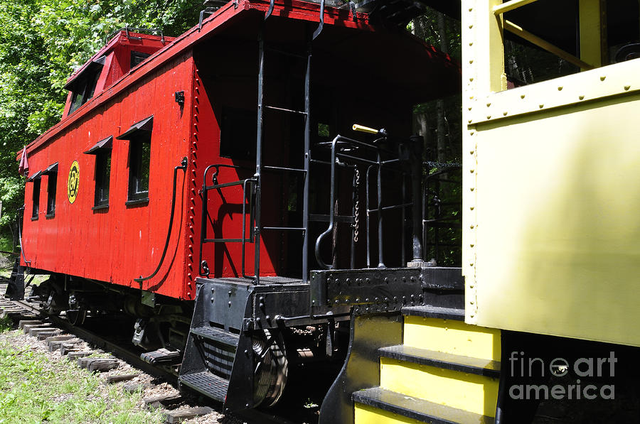 Red Caboose Photograph