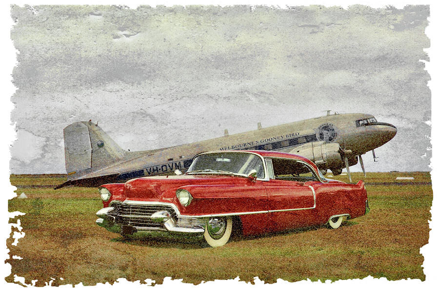 Red Cadillac Photograph