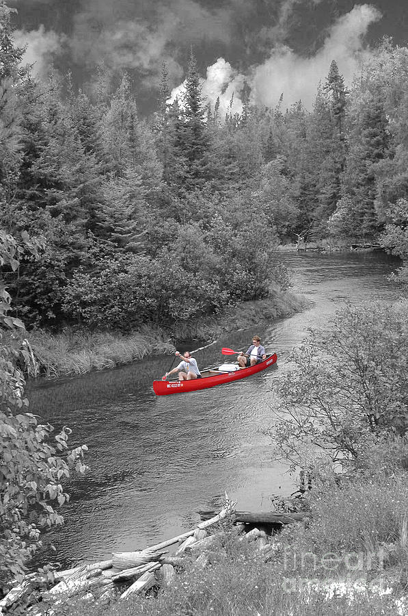 Red Canoe Photograph  - Red Canoe Fine Art Print