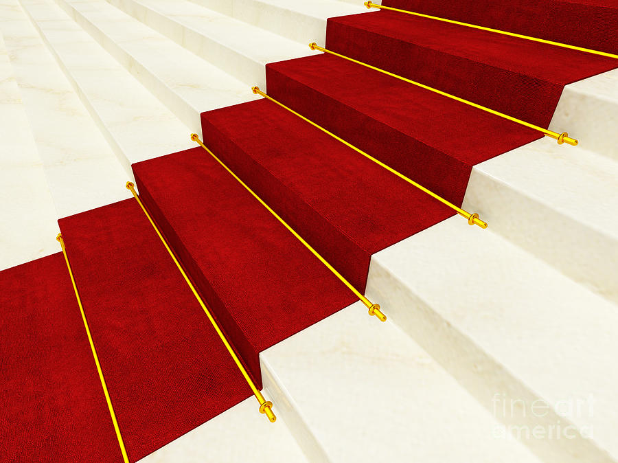 Red Carpet Photograph  - Red Carpet Fine Art Print