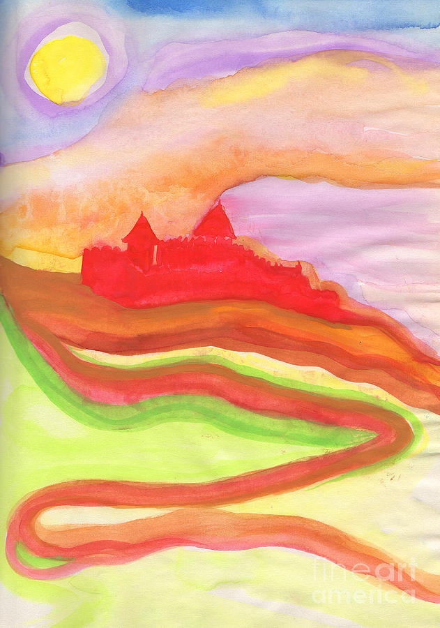 Red Castle Painting