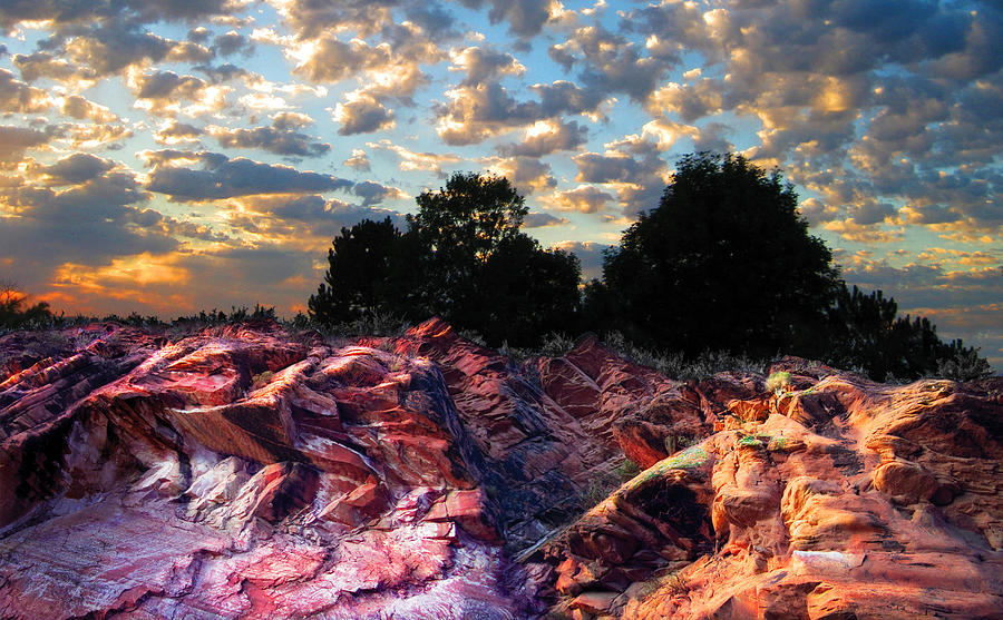 Red Cliff Sunset Photograph