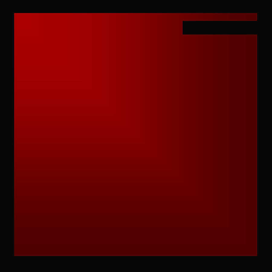 Red Composition With Frame Intrusion Digital Art  - Red Composition With Frame Intrusion Fine Art Print