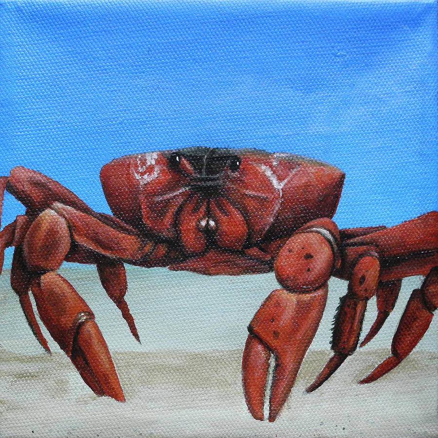 Red Crab Painting