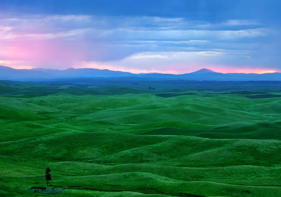 Red Dawn Over The Palouse Photograph