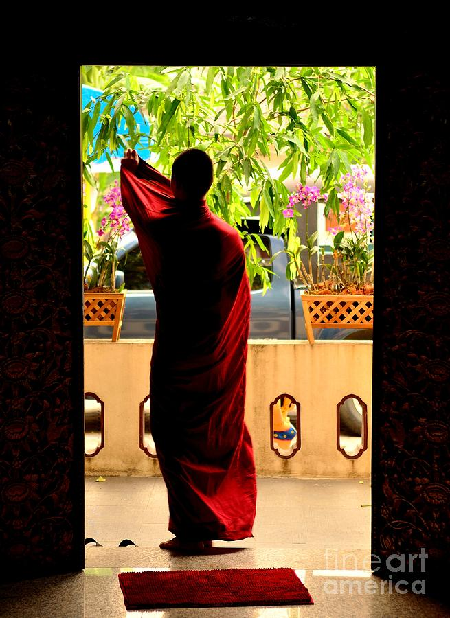 Monk Photograph - Red Divine by Dean Harte