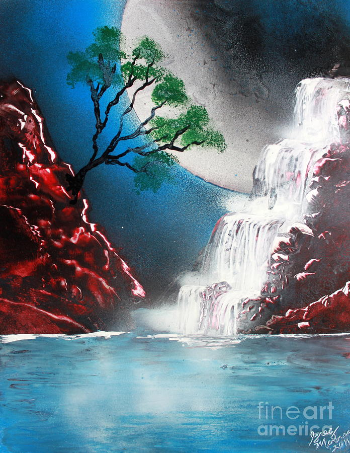 Red Falls 4662 Painting